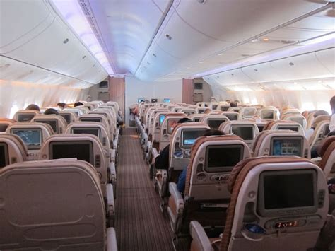 Qatar Airways 777 Economy Going 10 Abreast - One Mile at a