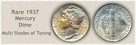 1937 Dime Value   Discover How Much Your Mercury Head Dime