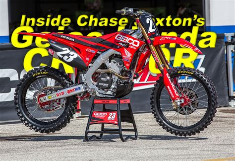 INSIDE CHASE SEXTON'S FACTORY GEICO HONDA CRF250R | Dirt