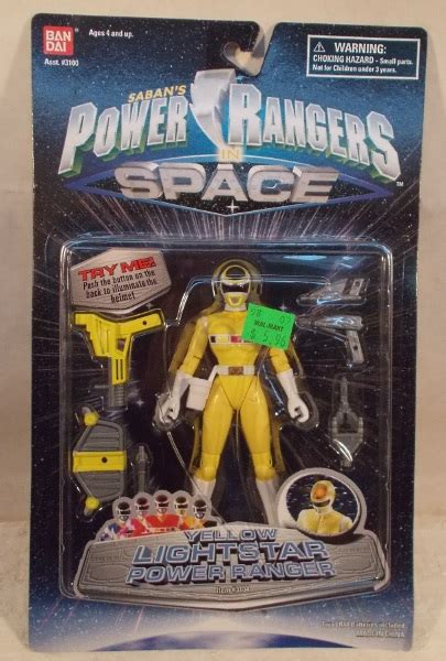 """""""OUT OF STOCK"""" Power Rangers In Space- Lightstar Yellow"""