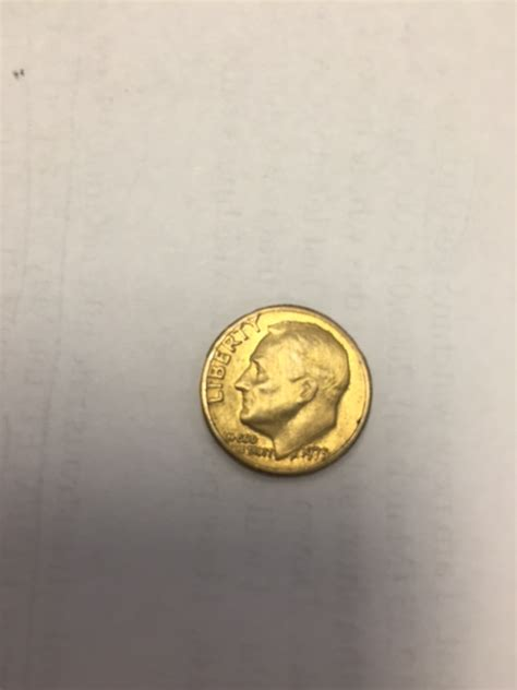 Rare find: 1975 Gold Roosevelt Dime - No S proof - Coin