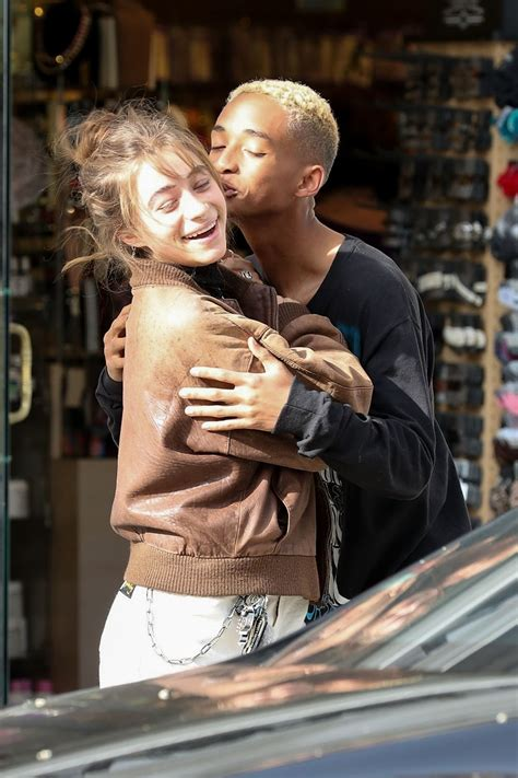 Jaden Smith and Odessa Adlon pack on the PDA in Beverly
