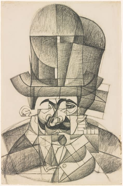 Juan Gris   Man with Opera Hat   Drawings Online   The
