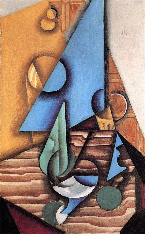 Bottle and Glass on a Table, 1914 - Juan Gris - WikiArt