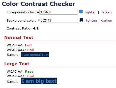 WebAIM Color Contrast Checker can be used to check whether