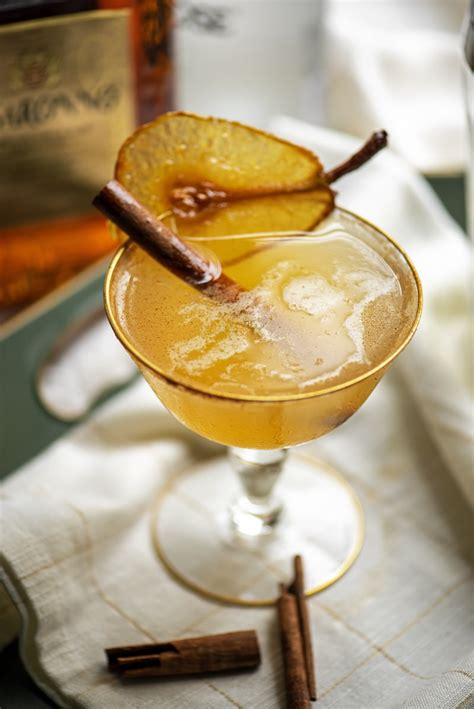 Spiced Pear Martini with Amaretto and Cardamom Bitters